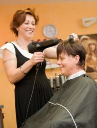 Ladenimpression der Friseurecke